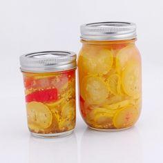 Sweet Summer Squash Pickles (no sugar, stevia sweetened)