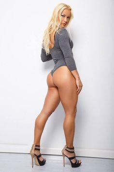 Oksana Poplavsky, hate the leotard and girl muscles, but the heels are Def check plus! Beautiful Legs, Gorgeous Women, Fit Women, Sexy Women, Hot Girls, Fitness Models, Thing 1, Bikini, Blonde Beauty