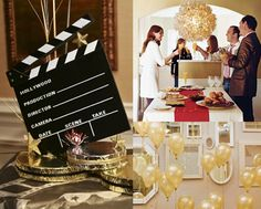 How To: Host an Oscars Viewing Party | LadyLUX - Online Luxury Lifestyle, Technology and Fashion Magazine Oscar Party Centerpieces, Hollywood Wedding, Hollywood Party, Hollywood Star, Oscar Ballot, Party Like Gatsby, Movie Party, Festival Decorations, Cinema