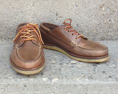 Natural Chromexcel Trail Oxford with Crepe Sole | Lost & Found