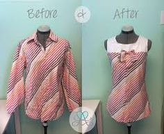 mens dress shirt refashion - Google Search