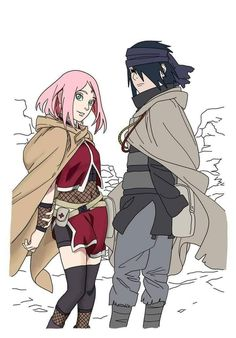Official coloured sketch of Sasuke and Sakura on their trip before Sarada was born in Orochimaru's Hideout. ❤️❤️❤️