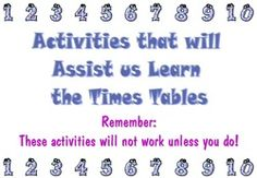 Using Multiple Intelligences to learn times tables