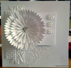 white on white by kraftykelly83 - Cards and Paper Crafts at Splitcoaststampers