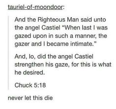 I don't ship Destiel but this is funny | I'm a die-hard Destiel shipper, and I find this beautiful