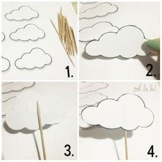DIY clouds decorations