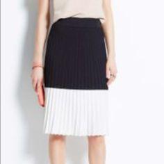 Ann Taylor color block shirt Never worn, new with tags Ann Taylor colorblock skirt.  The skirt is 24 inches and the waist is about 14 1/2 inches. Ann Taylor Skirts