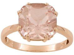 Morganite and rose gold ring