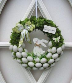 Osterkranz Ostern Trdeko Dekokranz Eierkranz Mooskranz 25 cm in Mbel amp; Deco Wreaths, Easter Activities, Easter Celebration, Easter Holidays, Diy Wreath, Wreath Ideas, Spring Crafts, Easter Crafts, Bunny Crafts