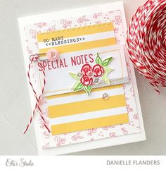 Special Notes card by Danielle using the Elle's Studio exclusive kit for March with the Cienna collection