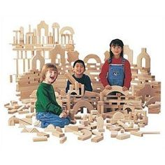 Jonti-Craft Unit Blocks Small Classroom Set - 340 Pieces - UNIT BLOCKS - Kids enjoy hours of creative play with these time-honored classroom favorite unit blocks. Crafted from hardwood, which is stronger than oak, each block is finely sanded smooth to ins Preschool Furniture, Kids Furniture, Preschool Rooms, Preschool Classroom, Nursery Furniture, Kindergarten, Wooden Building Blocks, Wooden Blocks, Block Play