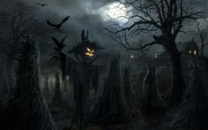 Download wallpapers Halloween, scary characters, scarecrow, darkness, night, Happy Halloween