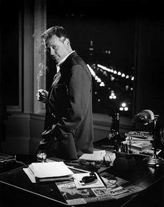 Eddie Muller; 'Czar of Film Noir'.  Flat Iron Building, San Francisco.  Photo by Jim Ferreira