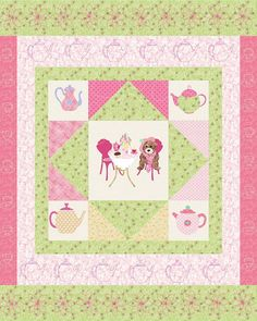 Little Girls Quilt  The Tea Party by KinderGardenDesigns on Etsy, $10.75