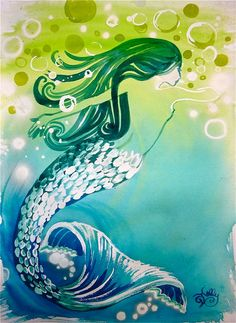 Couture+Mermaid+Twist++Original+Mermaid+by+gretchenkellystudio