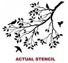 Wall Stencil Spring Songbirds - Reusable stencils better than decals - DIY decor. $39.95, via Etsy.