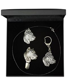 NEW, Presa de Canario, dog keyring, necklace and clipring in casket, DELUXE set, limited edition, ArtDog *** Want to know more, click on the image.