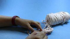 Penye ipten oval sepet  yapımı