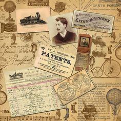 Phoenix Scrapbook Store: Free Digital Scrapbook Paper - Vintage Printables