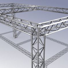 Truss System 01 Model available on Turbo Squid, the world's leading provider of digital models for visualization, films, television, and games. Truss Structure, Modular Structure, Building Structure, Steel Trusses, Roof Trusses, Rack Velo, Concert Stage Design, Roof Truss Design, Steel Frame House
