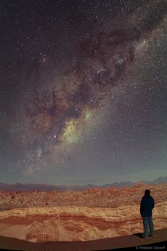 Night Sky: The Stars of San Pedro, Atacama (Las estrellas de San Pedro de Atacama), Chile. Oh The Places You'll Go, Places To Visit, Beautiful World, Beautiful Places, Foto Nature, South America Travel, Nocturne, Milky Way, Science And Nature