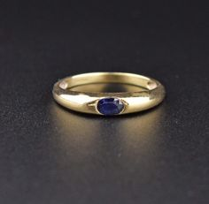 Solid Gold Vintage Sapphire Ring  #wedding #Gold #Natural #English #Vintage #Sapphire #intage #Ring #9K #Classic