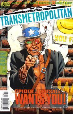 Transmetropolitan (Feb cover by Dave Gibbons. Best Comic Books, Comic Books Art, Comic Art, Book Art, Buy Comics, Read Comics, Dave Gibbons, Avatar, Vertigo Comics