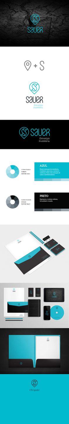 Sauer Estratégia Imobiliária Branding, Graphic Design