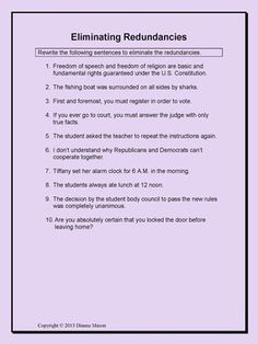 Worksheet Parallel Structure Worksheet definitions on pinterest lesson redundancies parallel structure and variety fo