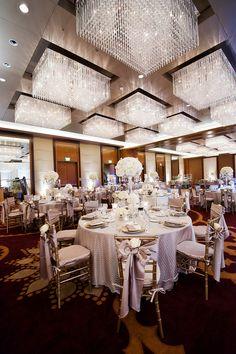 Gorgeous decor for an elegant white downtown Denver wedding at Four Seasons Hotel Denver.