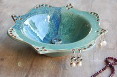 Stoneware Ring Dish and Earring Organizer by JenniferBurkePottery, $38.00