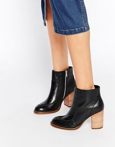 ASOS EARTHY Leather Ankle Boots