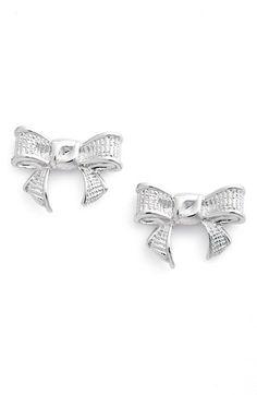 159303ba2 Ted Baker London 'Glori' Bow Stud Earrings Silver Bow, Silver Rings, Bow
