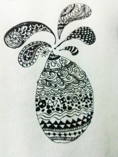 Not perfect at all but doing a zentangle feels great.... got a  long way to go!