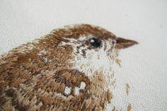 tinywhitedaisies - embroidered bird
