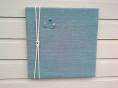 Bulletin or PinBoard made from Burlap with a nautical rope detail, custom options available, for your kitchen, cabin or office by jensdreamdecor on Etsy