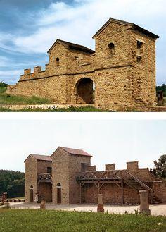 Roman Castrum - Reconstructed gateway of a Castra Stativa
