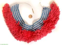 Xhosa Beaded Collar Necklace Like Mandelas South African - Xhosa - Beadwork