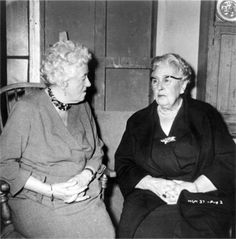 Margaret Rutherford and Agatha Christie