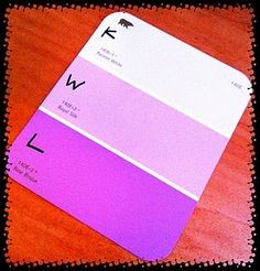 Simple... but Awesome! KWL on Paint Swatches...