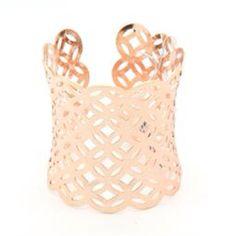 B3303RG V. Lu Rose Gold Long Cuff Bracelet from Turn Her Style, LLC for $27 on Square Market