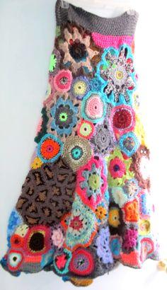 FREE SHIPPING Funky Freeform Long Bohemian Crochet by annehopkins, $325.00