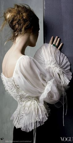 Adore this...when you feel femine and sexy.... Corsetry in Vogue
