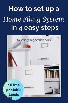 Is it time to declutter your paperwork? Let's talk about a home filing system for your paper organization. I give you tips and ideas to get started plus storage solutions. #paper #declutter #homefilingsystem #paperorganization Desktop Organization, Paper Organization, Life Organization, Daily Routine Schedule, Daily Routines, Home Filing System, Document Folder, Planning Your Day, Printable Labels