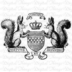 Squirrel Crown Crest from Etsy seller DigitalThings