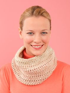 Free Crochet Pattern L10382 Easy-Over Cowl : Lion Brand Yarn Company