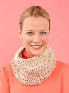 Free Crochet Pattern L10382 Easy-Over Cowl : Lion Brand Yarn Company
