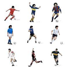 Maradona Tattoo, Messi, Diego Armando, Everton, Football Players, Soccer, Rebel, Legends, Illustration