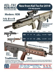 The new Kel-Tec RDB and M43  An AR bullpup from Kel-Tec!  Can't wait to get my mitts on one of these!