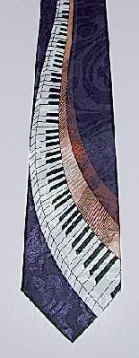 PIANO KEYS MUSIC TIE ON NAVY BACKGROUND